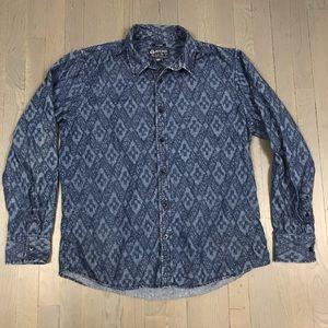 American Rag Printed Denim Jean Button Down Shirt